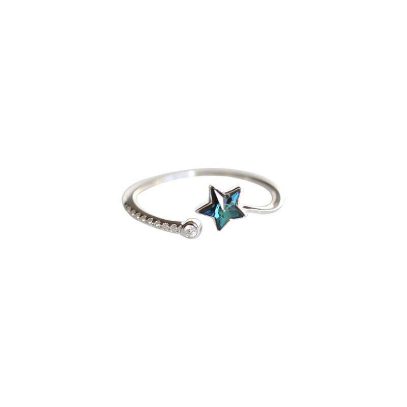 Fashion Echt Silber 925 Stern Ringe für Frauen Luxus Aussage Schmuck Finger Ring Sterling Silber Schmuck anillos plata 925