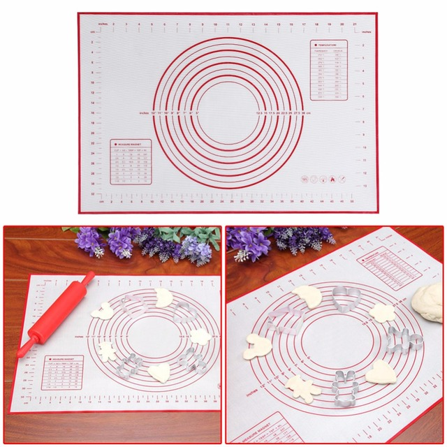 Nonstick Silicone Baking Mat for Oven Scale Rolling Dough Mat Baking Rolling Fondant Pastry Mat Non-stick Bakeware Cooking Tools