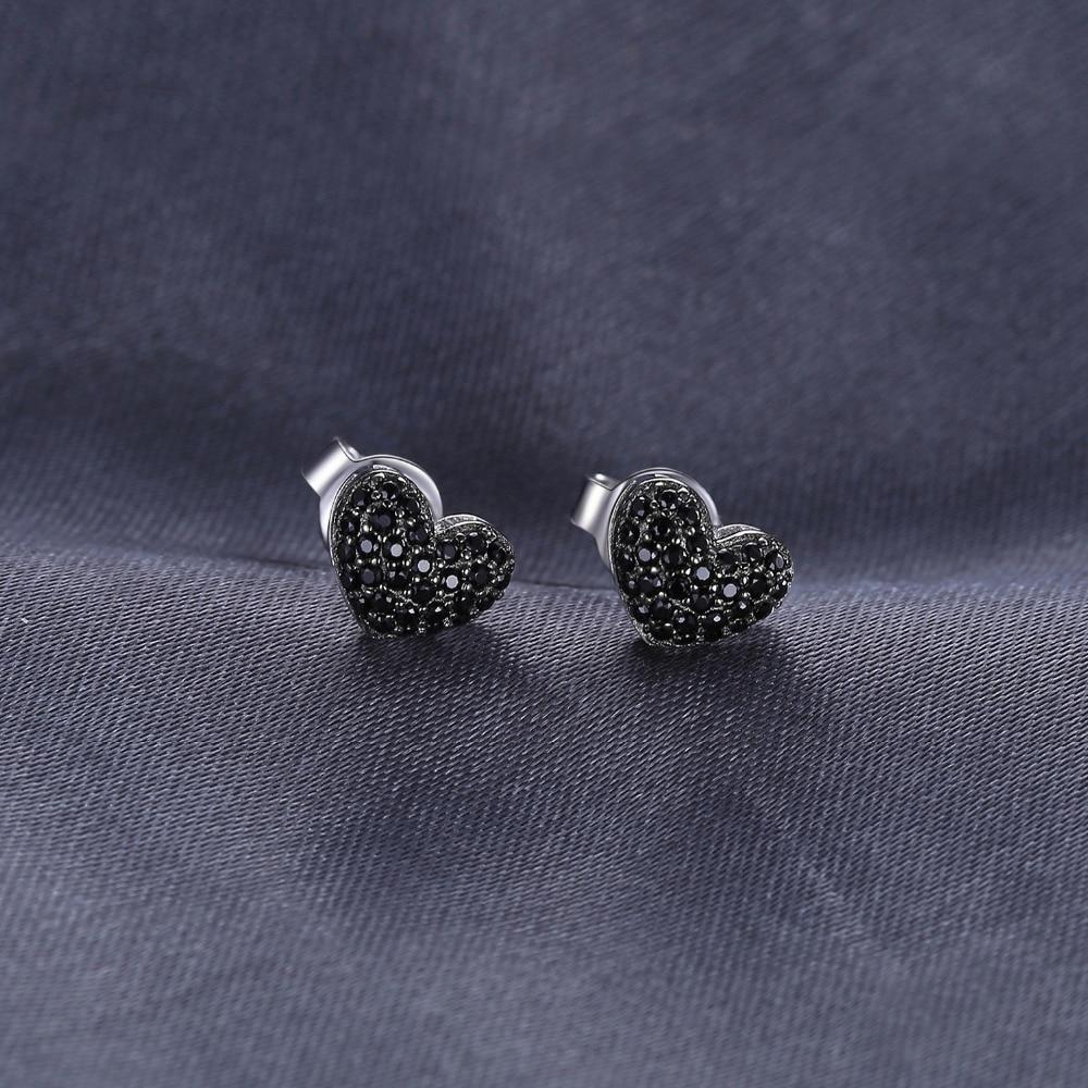 JewelryPalace Fashion 0.29ct natuurlijke zwarte Spinel Love Heart - Fijne sieraden - Foto 4