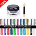 New 2g/box Mirror Powder Laser Silver Pigment Powder Chrome Pigment Rainbow Shiny Nail Glitters Nail Art  Sequins