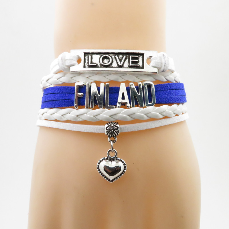 Charm Bracelets Back To Search Resultsjewelry & Accessories Responsible New Customized Haiti Flag Bracelets Trendy Leather Haiti Bracelets Women Men At All Costs