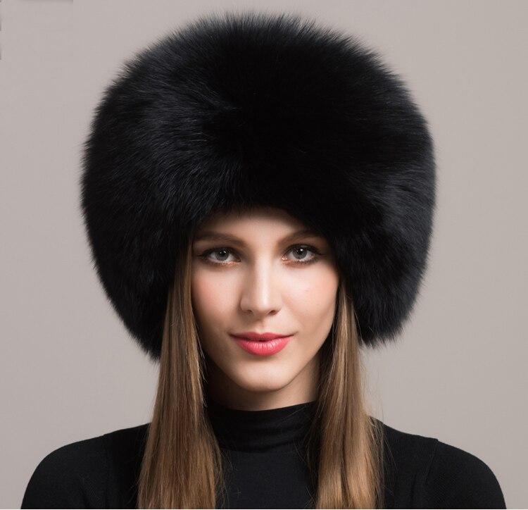 Winter Mode Russische Vos Bont Prinses Hoed Echte Vos Bont Hoed Vrouwen Warm Cap Lederen Hoofdtooi Ë Cap FFHH002
