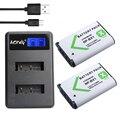 2 Unids NP-BX1 NP BX1 NPBX1 Batería + Cargador USB LCD para sony hdr-as200v as20 as100v az1 dsc-rx100 x1000v wx350 rx1 AS15