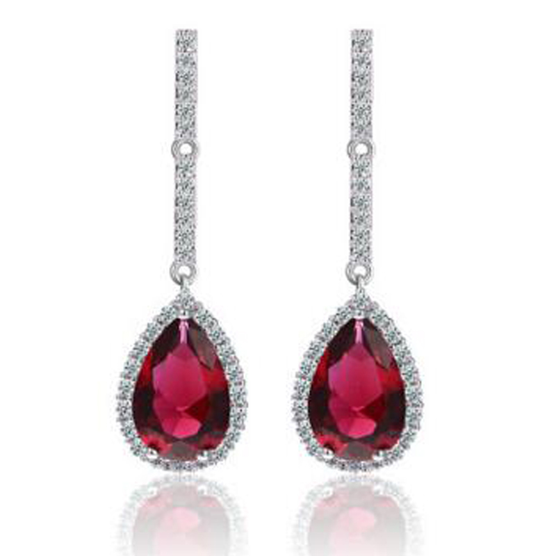 57944a301238 XOWSHINE 3 Color mujeres encanto pendientes largos AAA Zirconia a creado  pendientes Pusety joyería magnífico