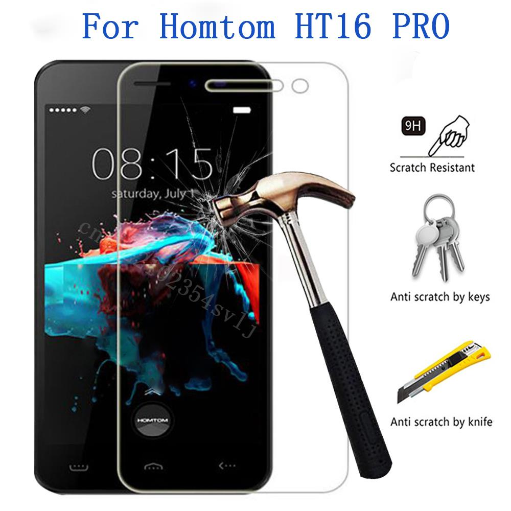 Homtom HT16 PRO Tempered Glass 9H 2.5D Premium Screen Protector Film For Homtom HT3/HT3 PRO Mobile Phone Protective Films Case 4(China)