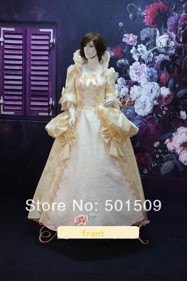 výšivka ventilátor obojku středověké šaty renesanční šaty královna šaty viktoriánský cosply gotický / Marie Antoinette / míč šaty Belle míč