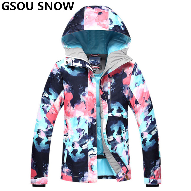GSOU SNOW Women Waterproof Ski Jacket Girls Snow Jacket Waterproof 10K Breathable 10K Super Warm Skiing And Snowboarding Coats brand gsou snow technology fabrics women ski suit snowboarding ski jacket women skiing jacket suit jaquetas feminina girls ski