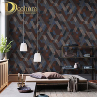 PVC wood wall paper wallpaper roll tv background mural wall paper papel de parede para 3D wall paper waterproof