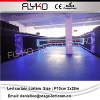 P10cm 2x26m rental flexible video led curtains for stage backdrops led video cloth firm video
