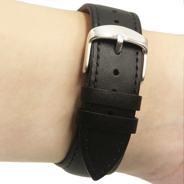 Watch Strap Band Genuine Leather 12mm 14mm 16mm 18mm 20mm 22mm Watchbands Black