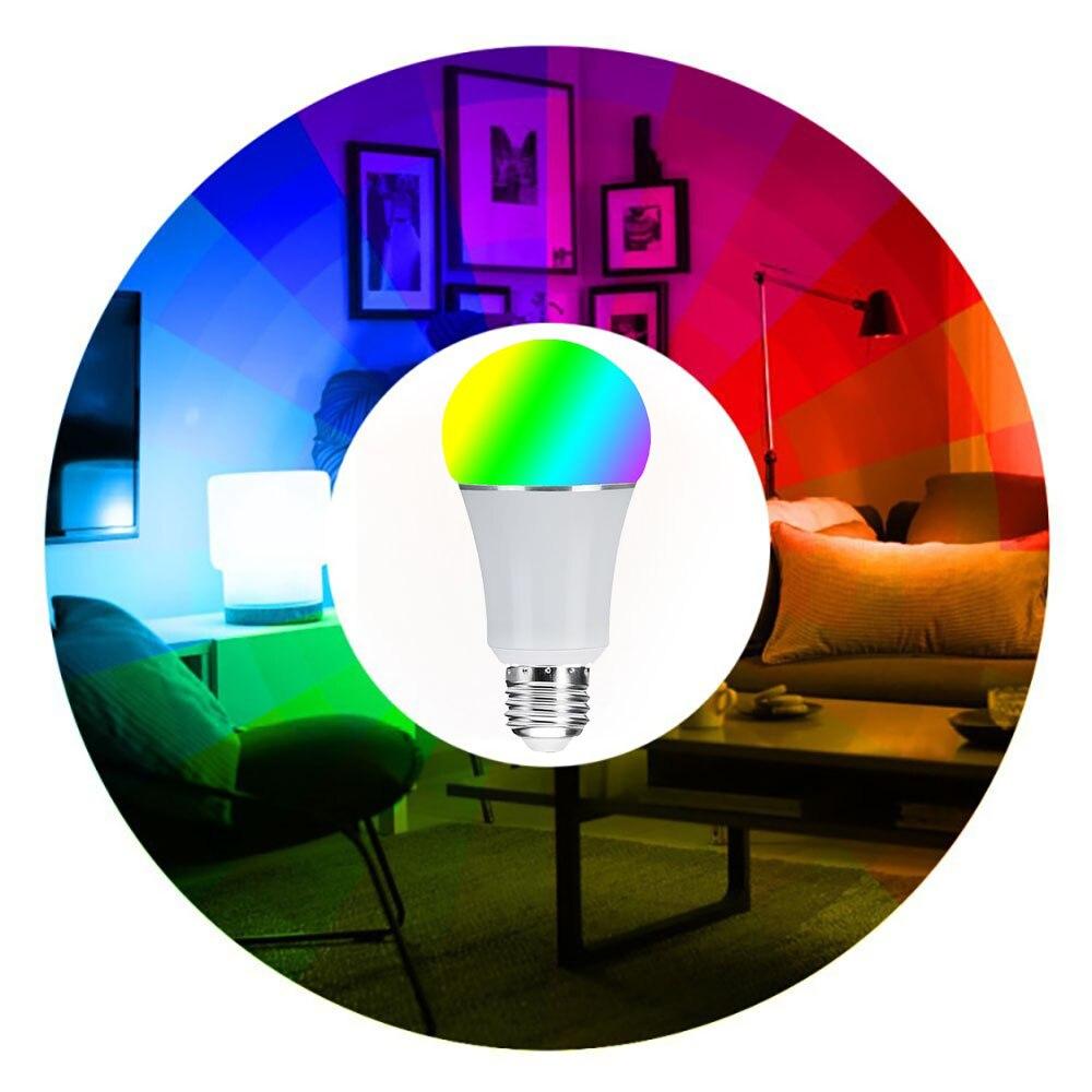 3 PC Pack Wifi ampoule, E27 E26 B22 16 millions rvb couleur lampe de scène Compatible avec Alexa Google Home Phone App 60 W équivalent - 4