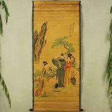 Antique collection Imitation ancient Li Bai Toast Diagram iraq bai