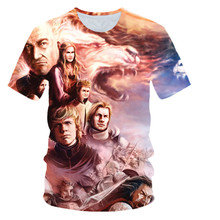 Game of Thrones Targaryen Fire & Blood T Shirt Men 2019 Summer Fit loose Men T-Shirts  Men's Sportswear T-shirts Kpop xs-5xl