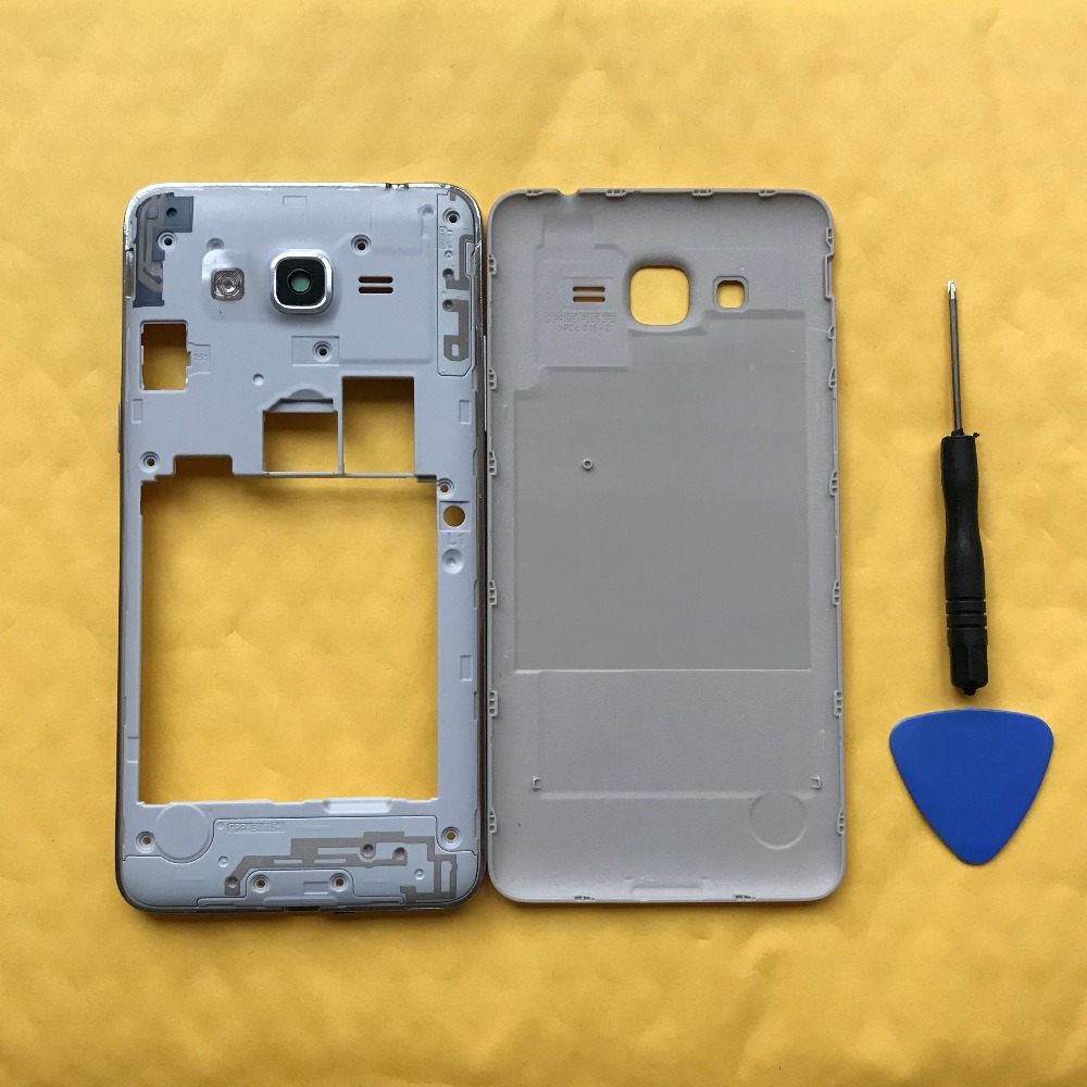 For Samsung Galaxy J2 Prime G532 G532H G532F G532G G532M Original Phone Middle Frame With Rear Battery Door Housing Back Cover