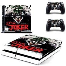 DC Batman and Joker Flim PS4 Skin Sticker Decal Vinyl for Sony Playstation 4 Console and 2 Controllers PS4 Skin Sticker