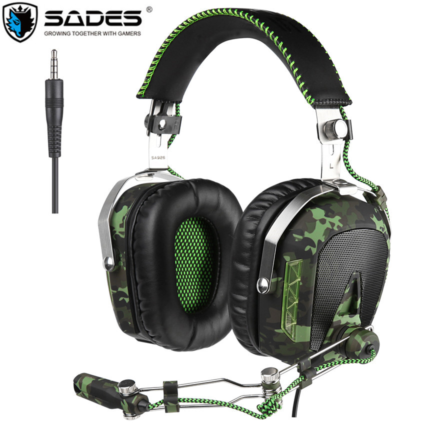 Sades SA926 PS4 Gaming Headphones casque 3.5mm Wired Over-Ear Headset Gamer with Mic for PC/PS3/Xbox One/Xbox 360/Phone/Laptop 3 in 1 sades sa922 pro gaming headset 7 1 surround sound stereo headphones earphones casque with mic for xbox 360 ps3 pc gamer