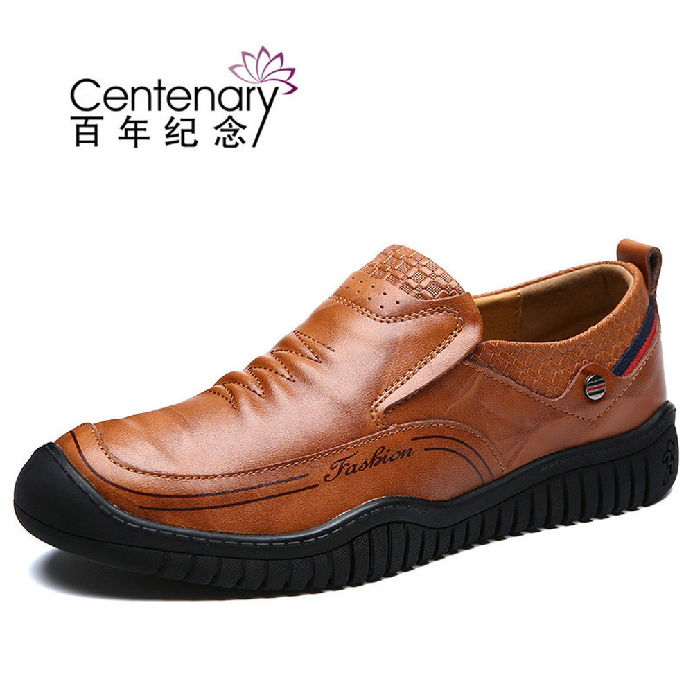 In the spring of 2018 new men's casual leather shoes leather shoes - Men's Shoes