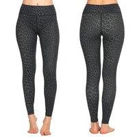 Women Sports Yoga Pant Tight Leggings Leopard Print Elastic Running Pants Girl Long Compression Fitness Trousers