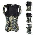 6XL Womens Print Waist Trainer Underbust Corset Body Shaper Shapewear gothic corset plus size corselete feminino