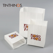100 pcs white Kraft Oil proof Paper bag good food French Fries Fried chicken Bread Burrito Bags bags Pouches shop