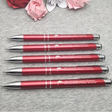 Your logo here company gift ideas laser engraved metal pens 60pcs a lot customized FREE with your name&date&wish words