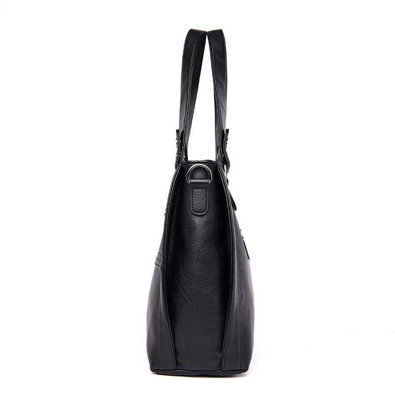 Image 3 - NEW Fashion Leather Women Bags Handbags Women Famous Brands  Luxury Designer Plaid Sholder Bag Ladies Big Casual Tote Sac A  MainTop-Handle Bags