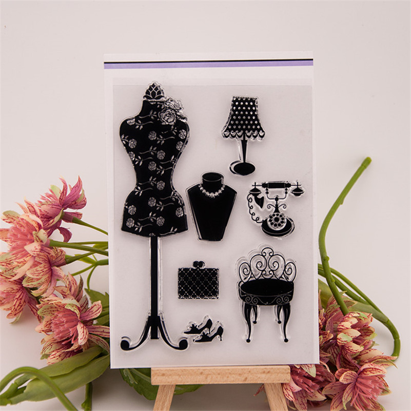 clothes rack and telephone set for clear stamp designs scrapbookin photo album paper card silicone stamp craft RM-246 lovely animals and ballon design transparent clear silicone stamp for diy scrapbooking photo album clear stamp cl 278