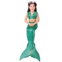 Baby Girl Little Mermaid Tail Costume Dress Vest Kids Beachwear Split Swimsuit Bathing Costume Children Fancy Dress Bikini