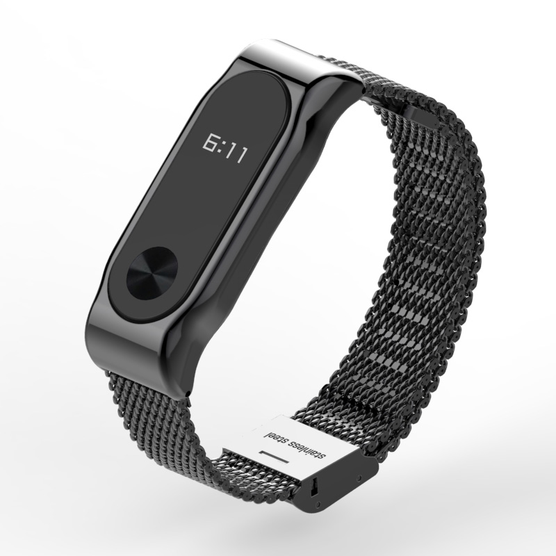 Metal Strap for Xiaomi Mi Band 2 Screwless Stainless Steel Bracelet for MiBand 2 Smart Band Replace Accessories For Mi Band 2 3