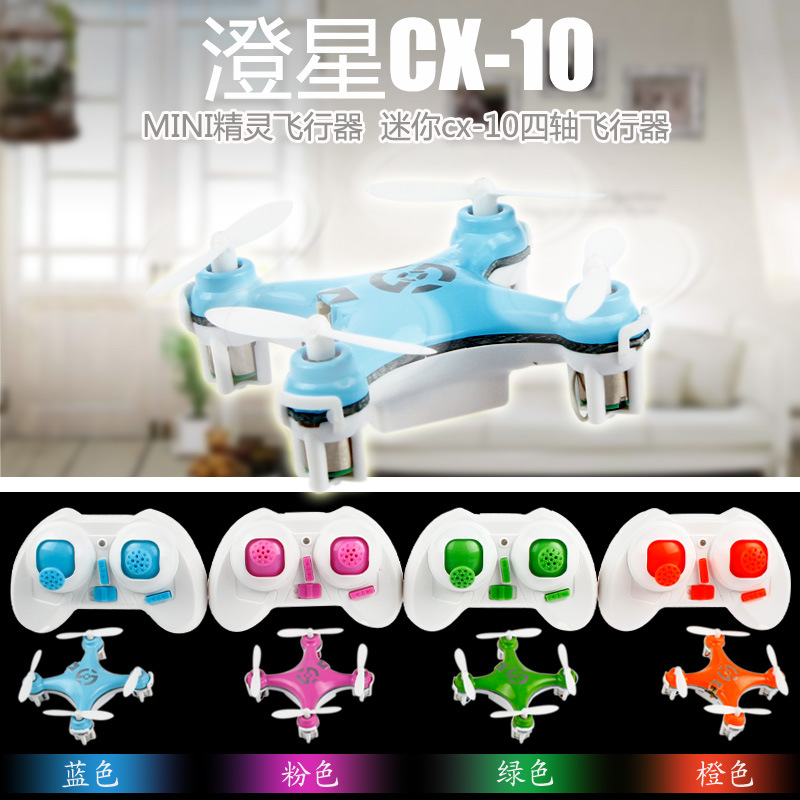 Cheerson CX 10 CX10 2.4G Remote Control Toys 4CH 6Axis RC Quadcopter Mini rc Helicopter Radio Control Helicoptero with LED light