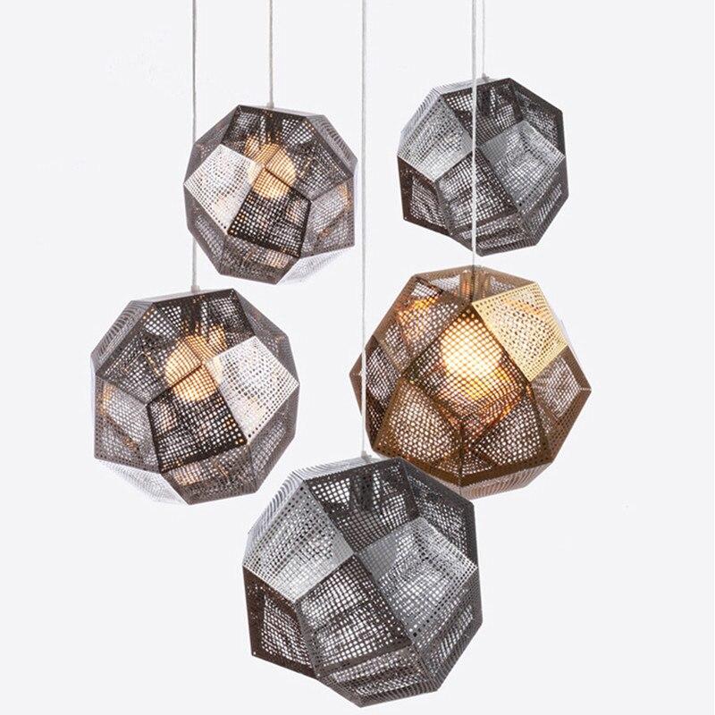 Neue Etch Shade Pendelleuchte Moderne Messing Pendelleuchten Gold Silber Ball Lampe 25 Cm 32
