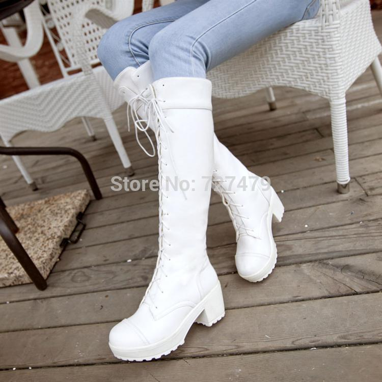 Online Get Cheap Thigh High Boots White -Aliexpress.com | Alibaba ...