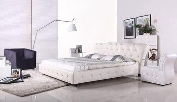 Camera da letto design moderno europeo cuoio di grano superiore