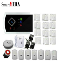 SmartYIBA Touch Home Security Anti Theft Metal Remote Control PIR Detector Gas Leak Alarmes APP Control GSM Alarm System