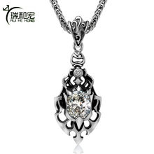 Titanium Steel Hot as Fire Passionate Flame Ladies Fashion Pendant Necklace Sweater Chain Pendant Necklace Personality Jewelry(China)