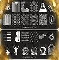 Nail Art Stamping plates equipment , 2pcs Stainless Steel Image Nail Stamping Plates/ Nail Stamp Template Tools13