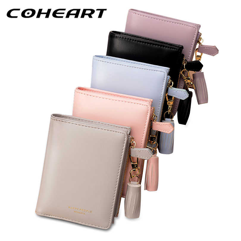 COHEART Wallet Women Fashion Tassel Wallet Purse Female Zipper Coin Pocket Card Holders Pu Leather Wallet High Quality Design !