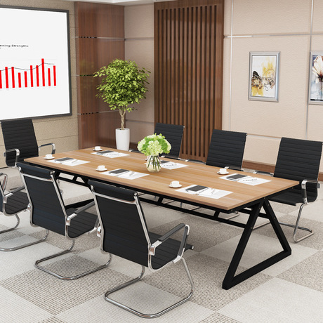 Conference Tables Office Furniture Commercial Furniture Steel Modern Wood  Office Table Office Desk Minimalist 240*