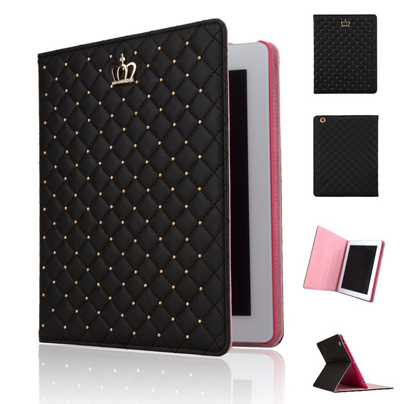 Book Style Stand PU Leather Case for iPad 2 3 4 Colorful Smart Tablet Cover Auto Sleep Design Black Pink Rose retro uk national flag style pu leather case w auto sleep for ipad 2 3 4 red white blue