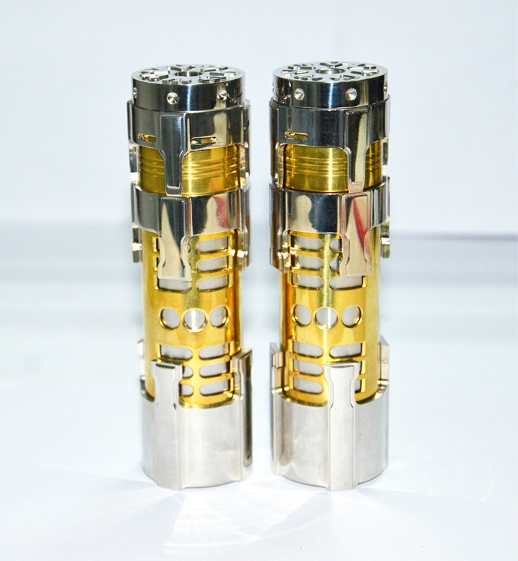Original TNT II mécanique MOD Fit 26650 batterie Fit 510 atomiseur fil Mech Mods VAPE Kit Cigarette électronique de haute qualité