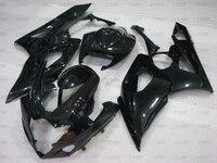 GSXR 1000 06 Fairings GSX R1000 2005 2006 K5 glossy Black Fairings GSX R1000 06 Fairing Kits
