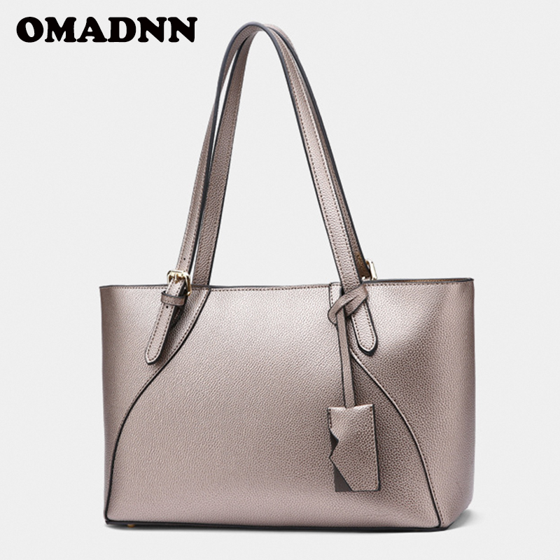 New Woman's Handbag Fashion Shoulder Bag Lady Casual Tote Satchel Bag High Quality PU Leather 2018 OMADNN Famous Brand 4 Colors