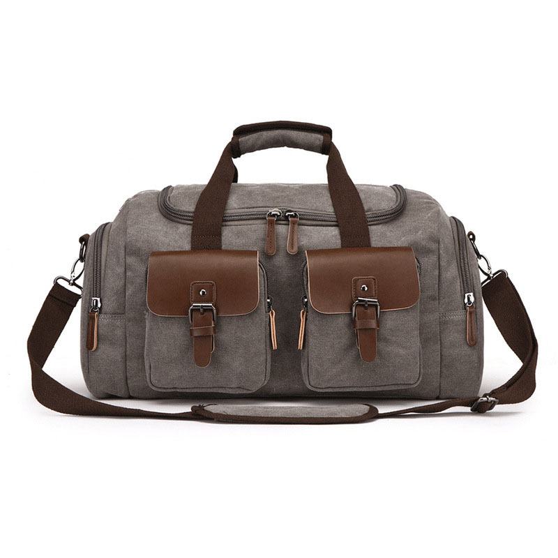 Canvas Luggage Bag Large Capacity Travel Bag Men Shoulder Handbag Crossbody Travel Duffel Bags Women Duffle Handbag