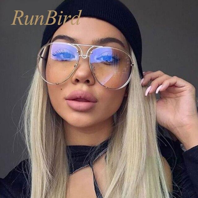 0a782ca8dd183 2017 Marca Designer Espelho Óculos De Sol Das Mulheres Dos Homens Senhora  de Grandes Dimensões Óculos