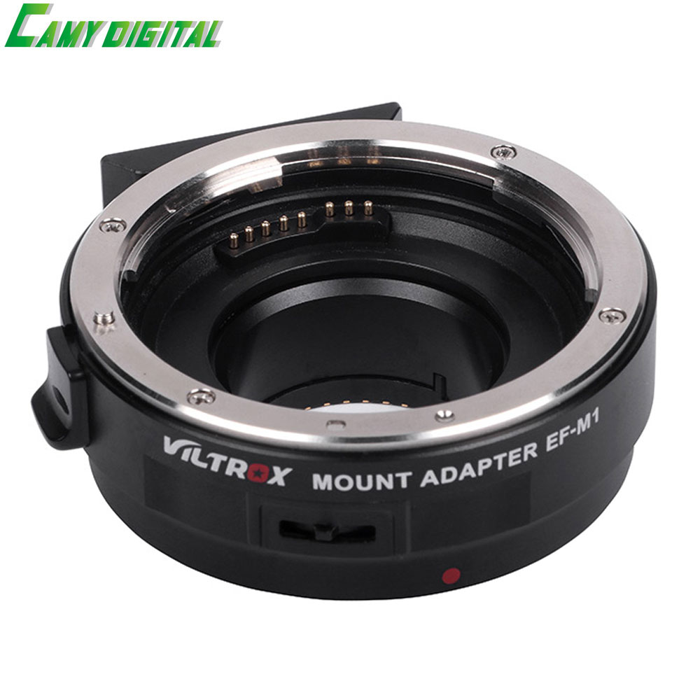 Viltrox EF-M1 Auto Focus Exif Lens Adapter for Canon EOS EF EF-S Lens to M4/3 Camera GH4 GH5 GF6 GF1 GX1 GX7 E-M5 E-M10 E-PL5 camera auto focus lens adapter ii for canon eos ef ef s to sony full frame nex a7 a7r