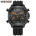 Marca de Lujo WEIDE Relojes Militar Hombres de Cuarzo Analógico Digital Resistente Al Agua de Silicona Correa de Reloj de Alarma Multi-función de Reloj Deportivo