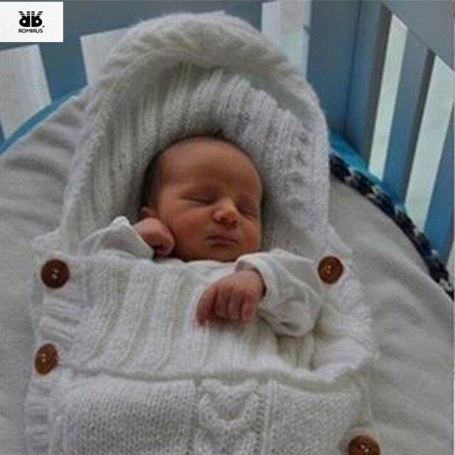 Saco Térmico Saco de dormir Do Bebê Saco De Dormir de Malha de Inverno Bebe  Lã 6d095994eaad9