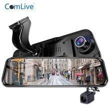 """Camlive più nuovo 10 """"macchina fotografica del precipitare dual camme HD1080P GPS logger WDR car video registratore di visione notturna specchio Dvr con speciale mou"""