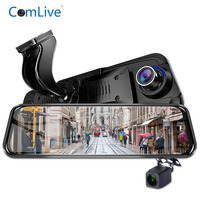 Camlive newest 10 car dash camera dual cams HD1080P GPS logger WDR car video recorder night vision mirror DVRs with special mou