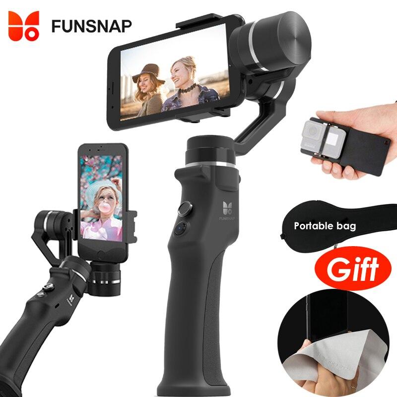 Funsnap Cattura 3 Assi Handheld Gimbal Stabilizzatore Per Smartphone GoPro 6 SJcam XiaoYi 4 k Macchina Fotografica Non DJI OSMO 2 ZHIYUN FEIYUTECH